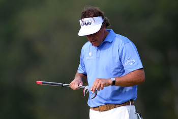 Even Phil Mickelson gave the belly putter a look.