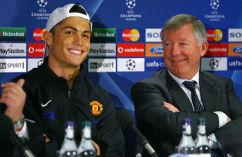 Real Madrid's Cristiano Ronaldo played for Sir Alex Ferguson at Manchester United