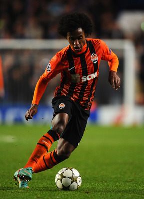 Willian helped Shakhtar Donetsk reach the Champions League knockout stage