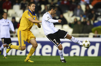 Jonas has scored four times for Valencia in the Champions League this season