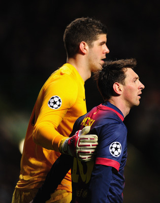 Goalkeeper Fraser Forster helped Celtic defeat Barcelona in the Champions League group stage
