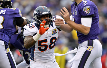 Broncos outside linebacker Von Miller