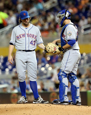 Dickey and Thole Oct. 2 against the Marlins.