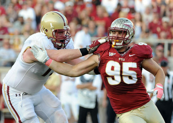 Bjoern Werner, the best defensive end in the draft class, would be a great replacement for Cliff Avril.