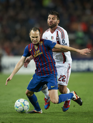 Barcelona and AC Milan met in last season's UCL quarterfinal