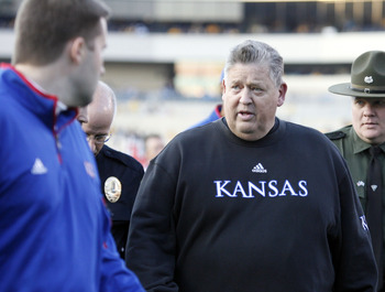 Kansas head coach Charlie Weis
