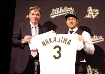 Japanese shortstop Hiroyuki Nakajima signed a two-year, $6.5 million deal earlier this week.
