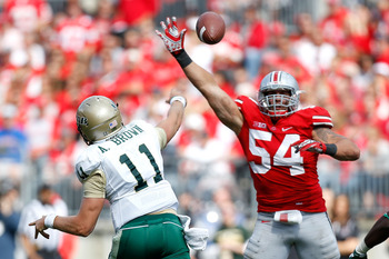 John Simon capped off his Buckeye career with the Big Ten Defensive Player of the Year award.