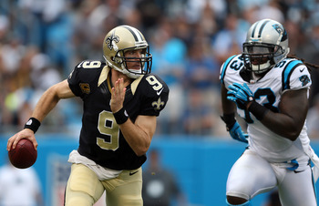 Drew Brees needs 219 passing yards to reach 5,000 in 2012.