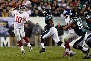 Eli Manning and the Giants are in danger of missing playoffs.