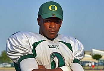 Dontre Wilson in a Ducks hat