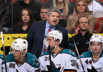 The Sharks have never had less than 96 points since McLellan took over.