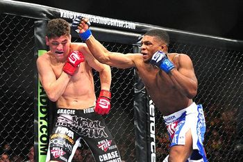 Nick Diaz and Paul Daley rocked and socked like robots, giving the world the second-best welterweight title fight of all time. Photo c/o ESPN.com.