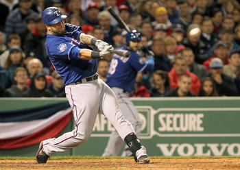 Pending his contract negotiations, Mike Napoli will fill the much needed void at first base.
