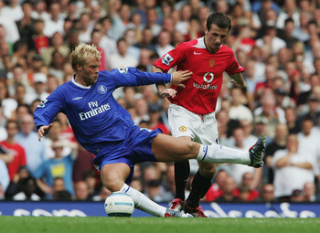 Eidur Gudjohnsen scored Chelsea's winner against Manchester United on the opening day of the 2004-05 season