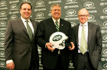 Woody Johnson (right) may already be looking for new management.