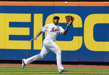 Jordany Valdespin played all three outfield positions in 2012