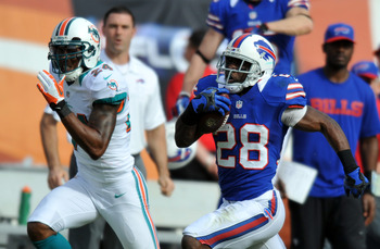 C.J. Spiller takes off on a 62-yard run in first half.