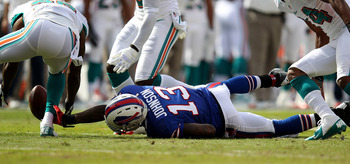 Steve Johnson had a rough game against the Dolphins today.