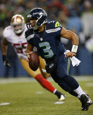 Russell Wilson was easily able to avoid 49ers defenders all night long.