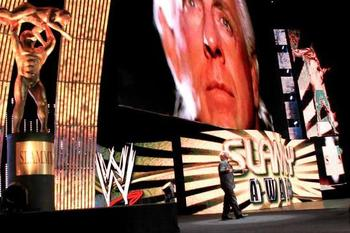 Ric Flair returns at the 2012 Slammy Awards. (Courtesy of WWE.com)