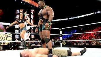 Big E Langston lays a beating on a defenseless John Cena. (Courtesy of WWE.com)