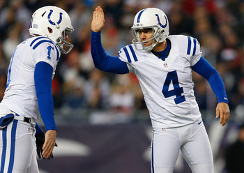 Pat McAfee and Adam Vinatieri have been the most dependable players on the roster this season.