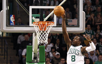 Nov 28, 2012; Boston, MA, USA; Boston Celtics power forward Jeff Green (8) shoots the ball against the Brooklyn Nets during the first half at TD Garden.  Mandatory Credit: Mark L. Baer-USA TODAY Sports