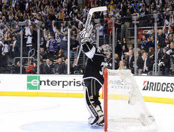 Jonathan Quick of the Los Angeles Kings.