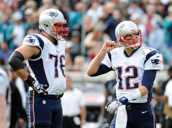 The Pats' offensive line exposed Tom Brady to the Jaguars' pass rush.
