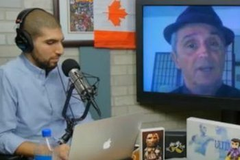 Art Davie speaks with Ariel Helwani. (Photo Courtesy MMAfighting.com).