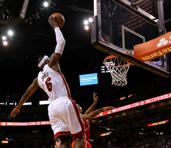 When LeBron James lifts off, it's unwise to impede his ascent.
