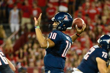 Quarterback Matt Scott completed all but six passes (30-36) against South Carolina State.