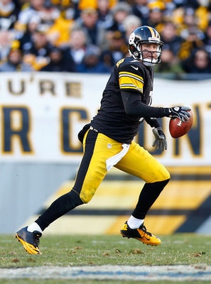 PITTSBURGH, PA - DECEMBER 23: Ben Roethlisberger #7 of the Pittsburgh Steelers runs with the ball against the Cincinnati Bengals during the game at Heinz Field on December 23, 2012 in Pittsburgh, Pennsylvania. (Photo by Jared Wickerham/Getty Images)