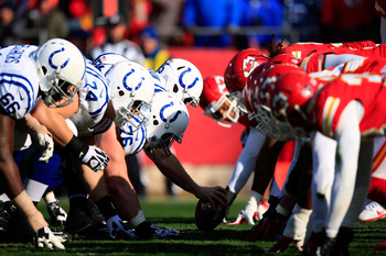The Colts' offensive line wasn't good, but they were better than they were against Houston.