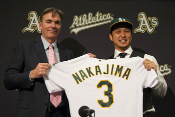 Hiroyuki Nakajima—one of the few free agents to NOT spurn the A's.