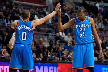 Kevin Durant and Russell Westbrook have the best shot at a title this season.