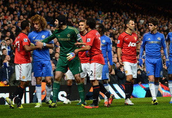 Fixtures between Chelsea and Manchester United aren't known for their good-natured rivalry.