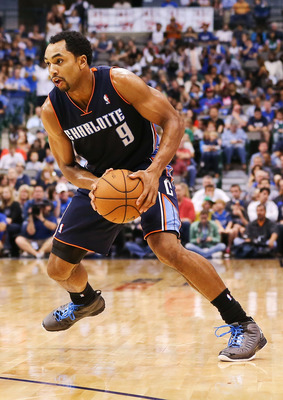 Nov 03, 2012; Dallas, TX, USA; Charlotte Bobcats shooting guard Gerald Henderson (9) looks to drive during the game against the Dallas Mavericks at American Airlines Center. Dallas won 126-99.  Mandatory Credit: Kevin Jairaj-USA TODAY Sports