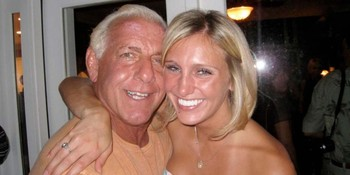 Ric Flair and daughter, Ashley. Image by Wrestling-Online