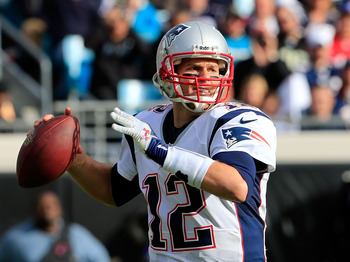 Tom Brady, quarterback for the New England Patriots.