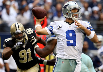 Tony Romo, quarterback for the Dallas Cowboys.