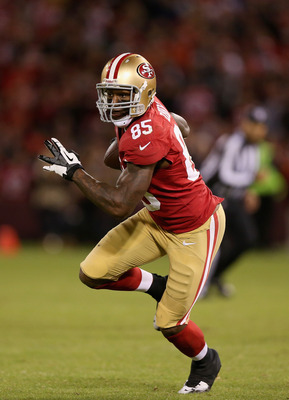 Vernon Davis, tight end for the San Francisco 49ers.