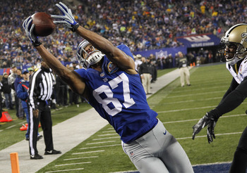Domenik Hixon is fourth on the Giants with 37 catches.