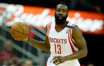 James Harden is fourth in the league in scoring.