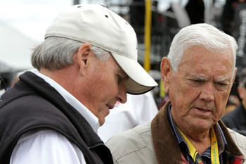 Junior Johnson with Rick Hendricks