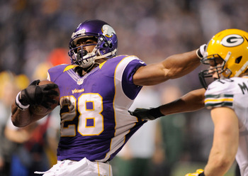 Adrian Peterson finishes just nine yards shy of the all-time NFL rushing record.