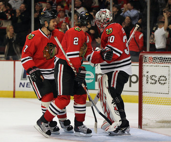 Duncan Keith and Brent Seabrook looked a little fatigued last season.