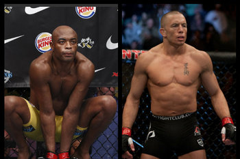 Anderson Silva and Georges St-Pierre - Esther Lin/MMAFighting