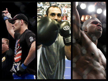 Chris Weidman, Johny Hendricks and Alistair Overeem - Esther Lin/MMAFighting